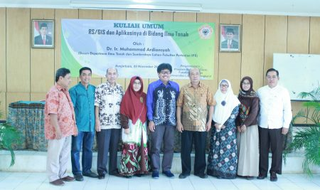 """Public lecture """"Remote Sensing/Geographic Information System and its application in the field of soil science"""""""