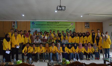 "Public lecture ""Geospatial Information Development in Indonesia"""