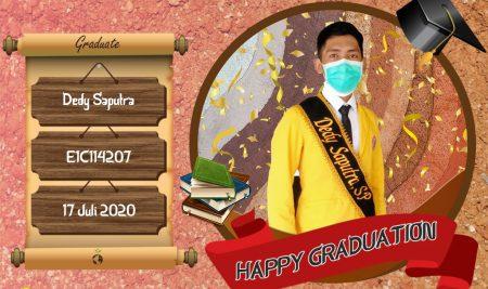 Graduation Appreciation for Dedy Saputra