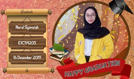Graduation Appreciation for Nurul Syamsiah