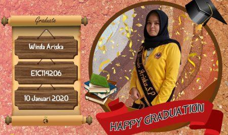 Graduation Appreciation for Winda Ariska