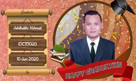 Graduation Appreciation for Jalalluddin Akhmad