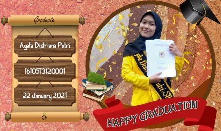 Graduation Appreciation for Agata Distriana Putri